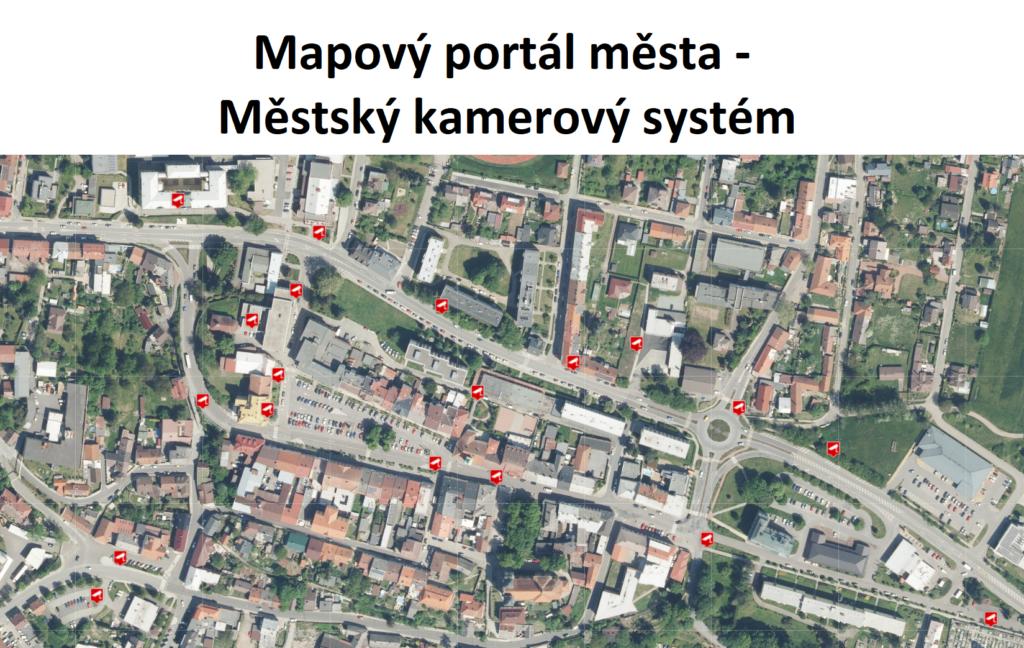 informační mapa kamerového systému